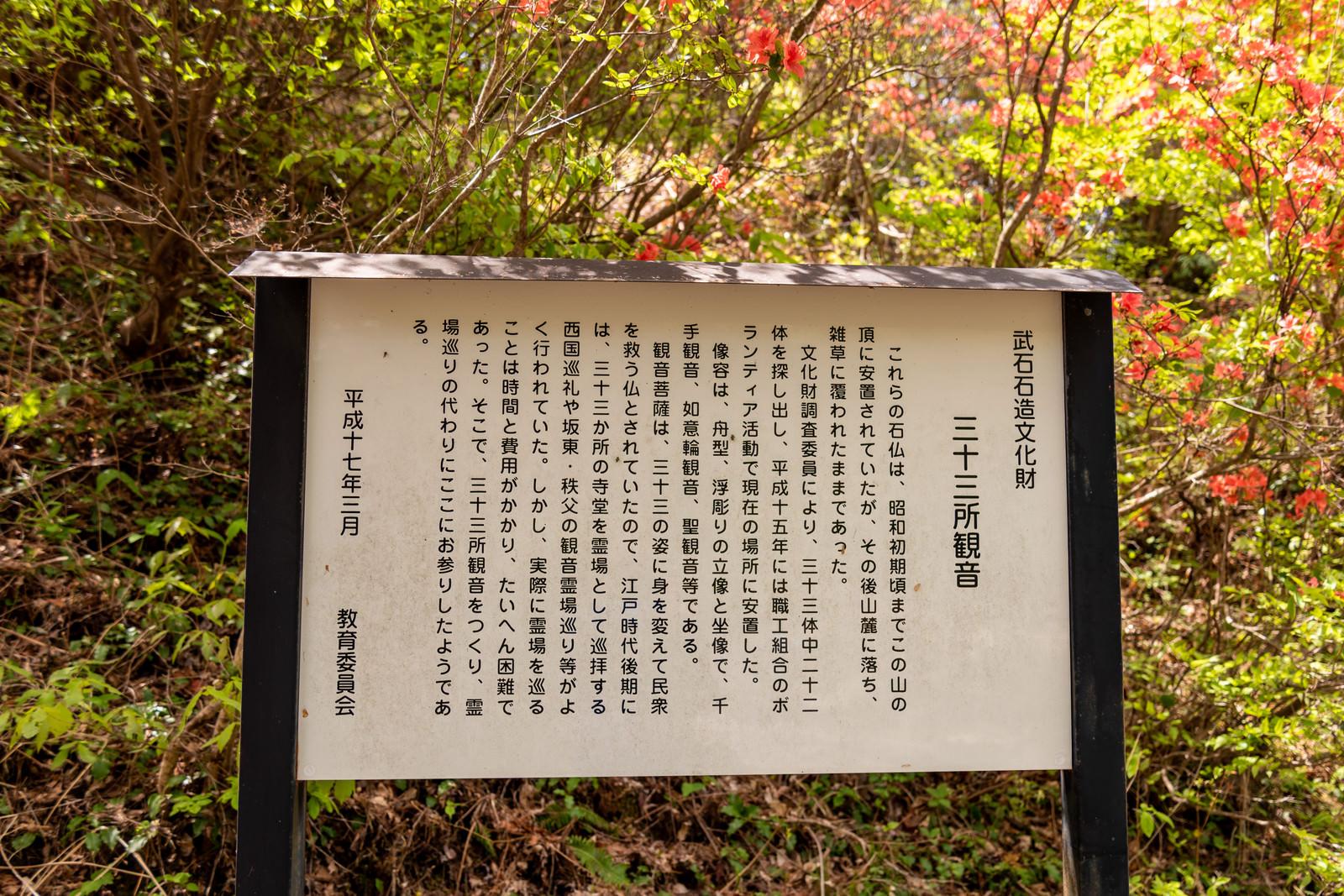 「武石公園に設置してある解説板」の写真