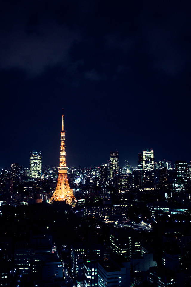 東京タワーと夜景の写真