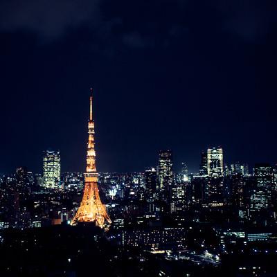 「東京タワーと夜景」の写真素材