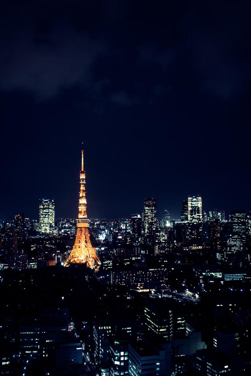 「東京タワーと夜景」の写真