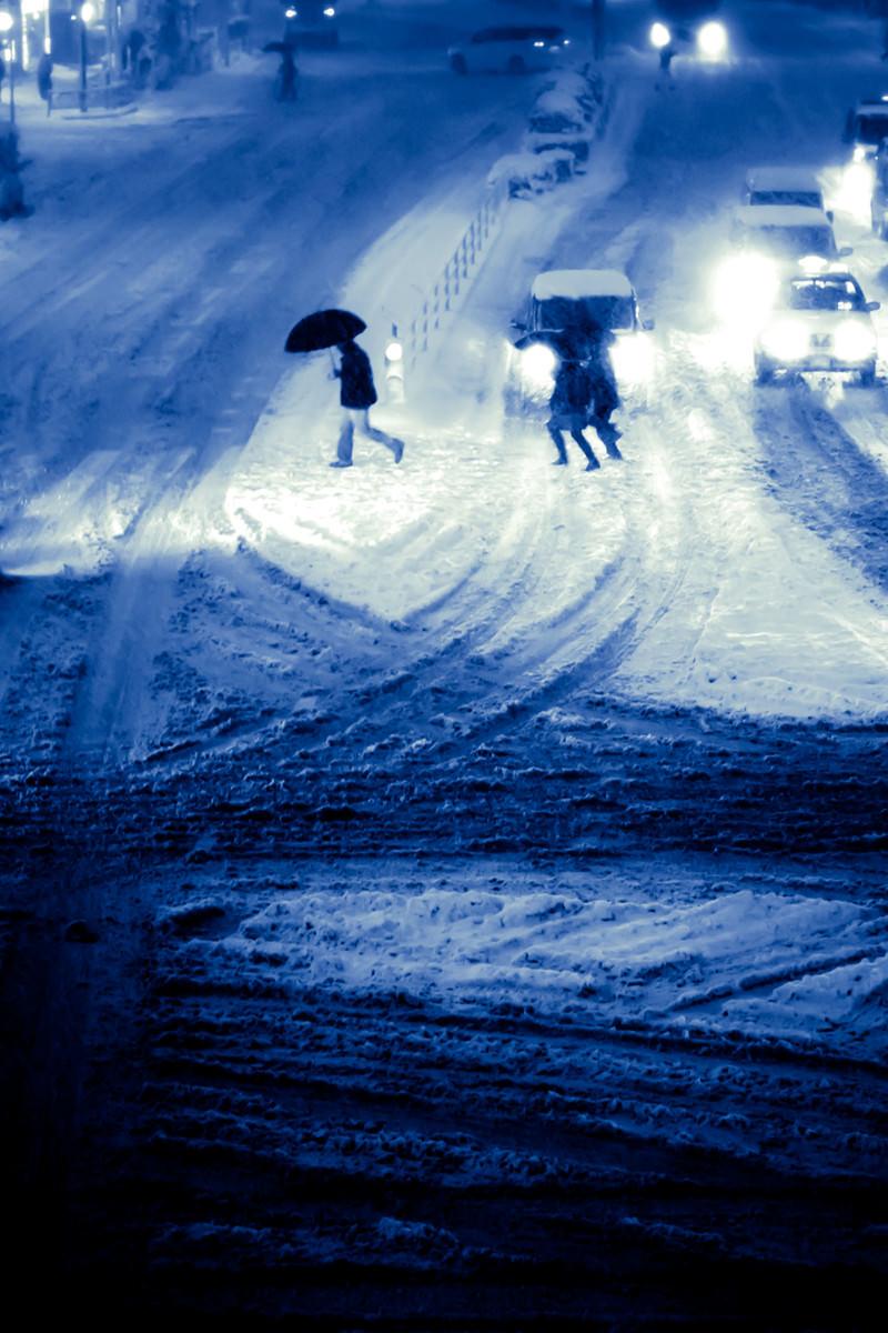 「大雪の都心」の写真
