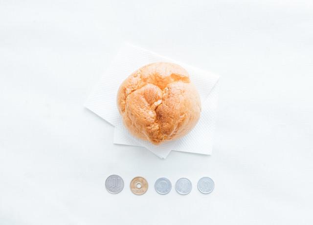 お持ち帰りで節税(軽減税率)、108円シュークリームの写真
