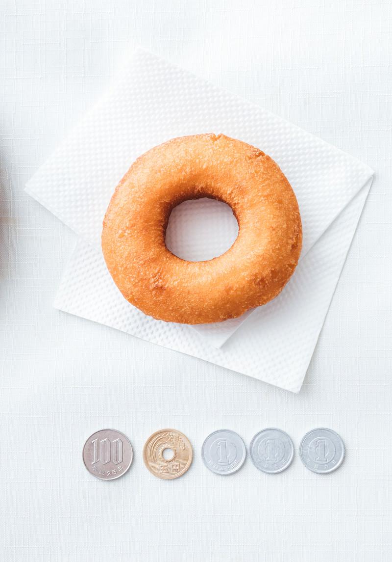 「108円ドーナッツ」の写真