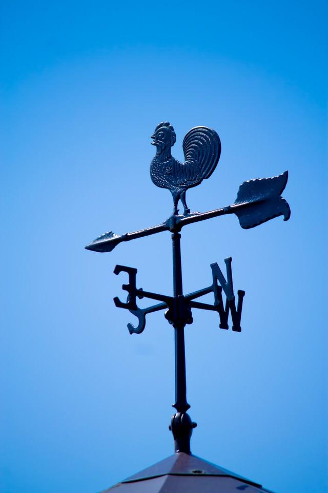 屋根上の風見鶏の写真