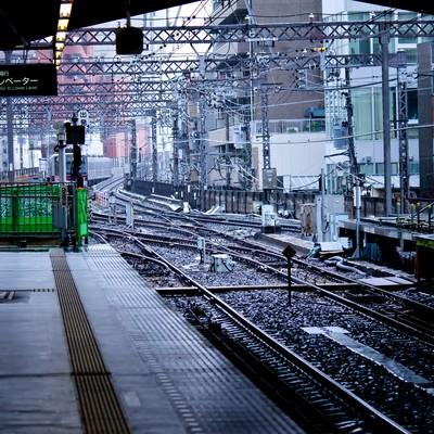 駅のホームからの景色の写真