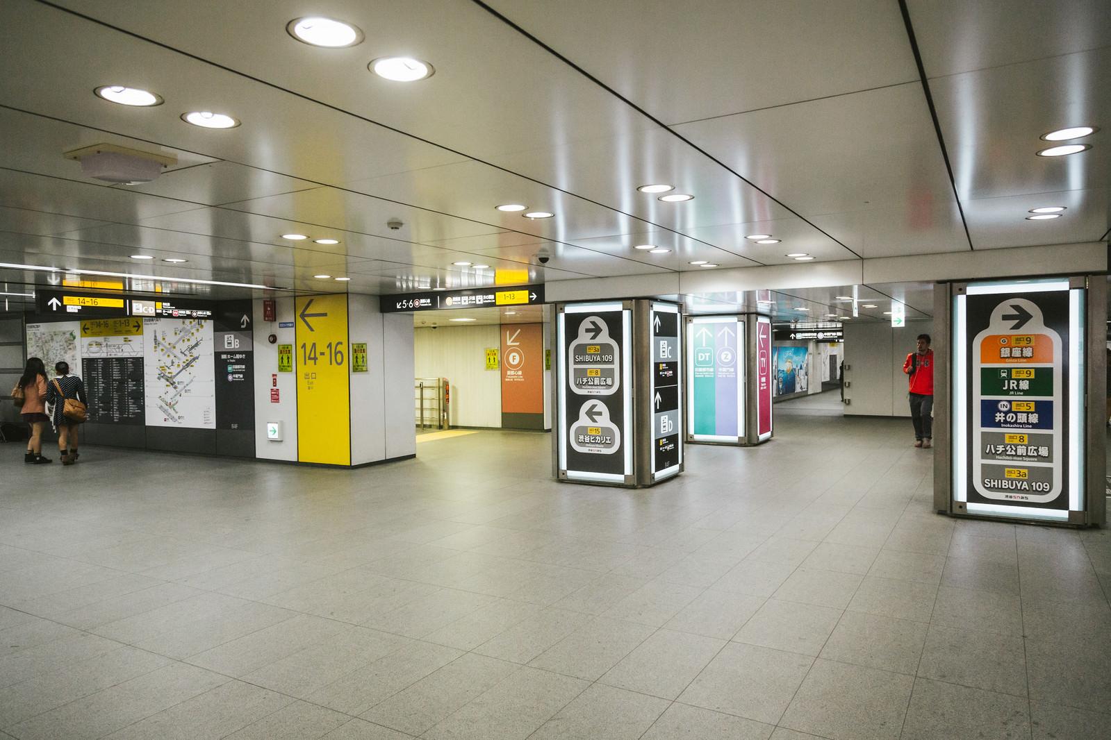 「渋谷の迷路のような電車乗り換え」の写真