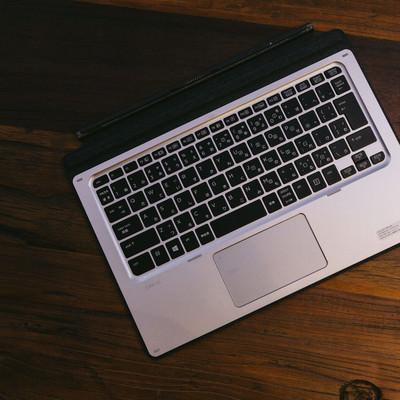 「取り外されて残ったキーボード」の写真素材