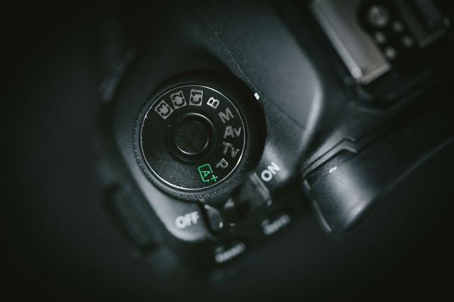 撮影モードダイヤル(P・Tv・Av・M)の写真