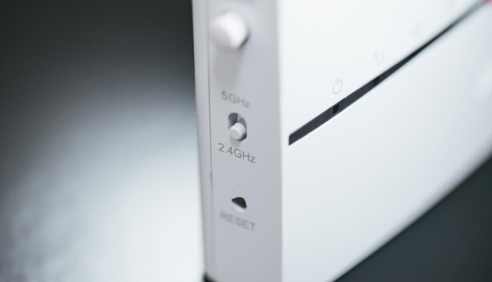「2.4GHzに切り替え」の写真