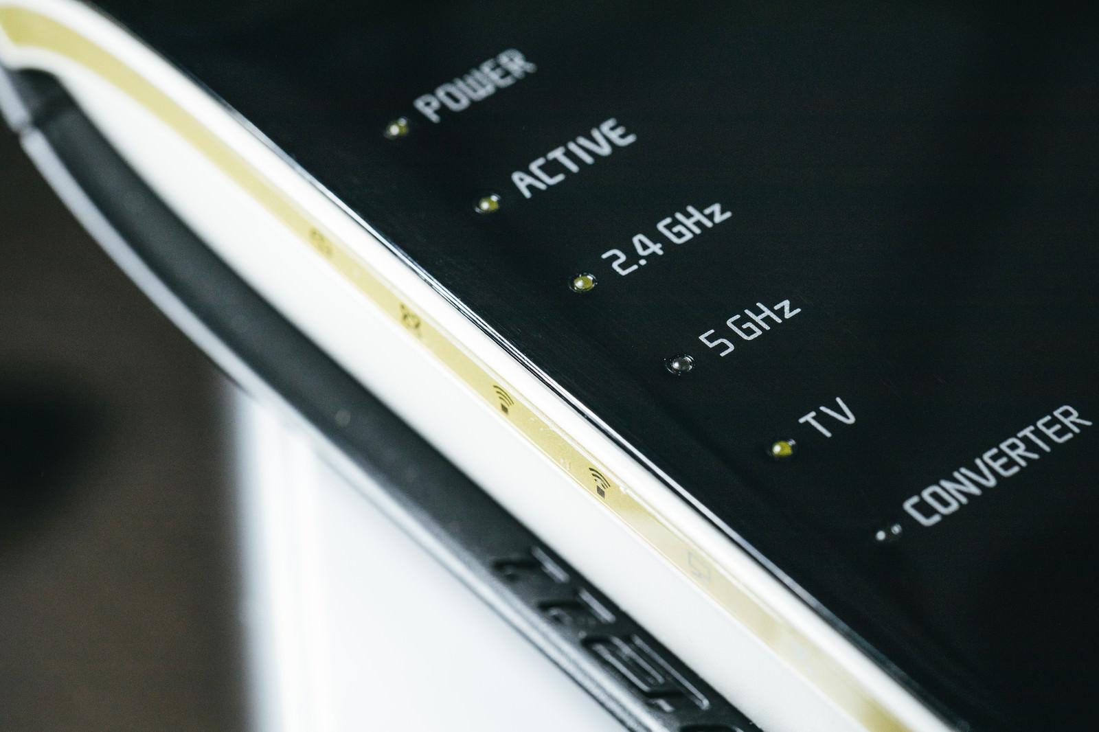 「Wi-Fiルータ(2.4GHzと5GHz)」の写真