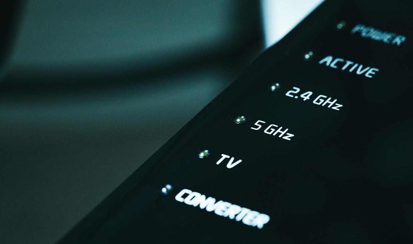 「5GHz帯が使える無線ルータ」の写真