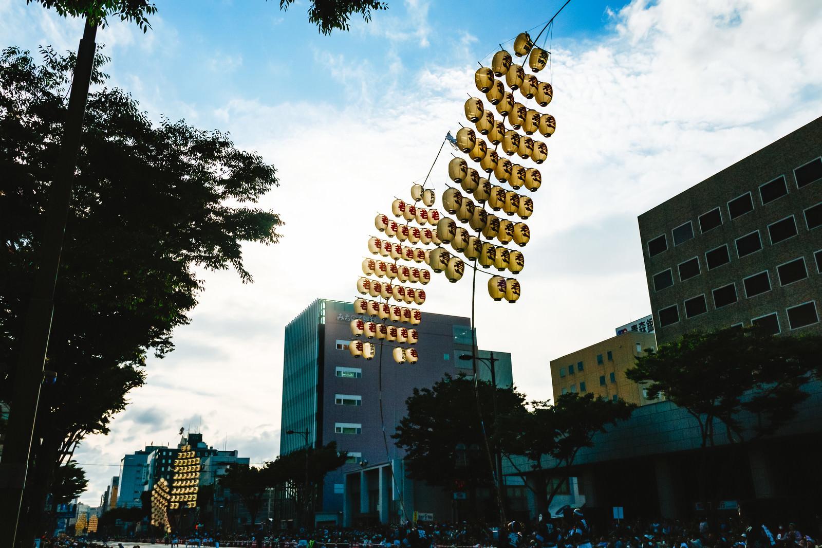 「六魂祭竿燈」の写真