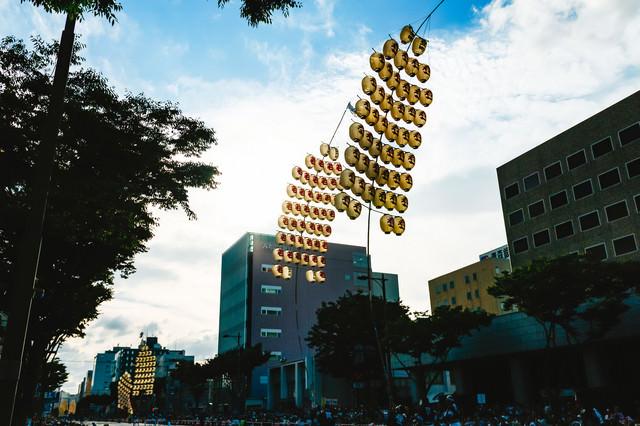 六魂祭竿燈の写真