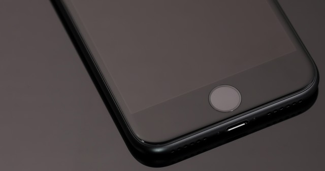 スマートフォンの感圧タッチの写真