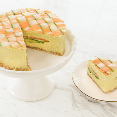 「サラダみたいでヘルシー にんじんとズッキーニの「ベジデコケーキ 」」の写真素材