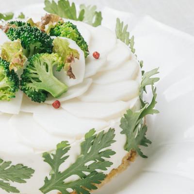 野菜で作られたケーキだからヘルシーで食物繊維も豊富の写真