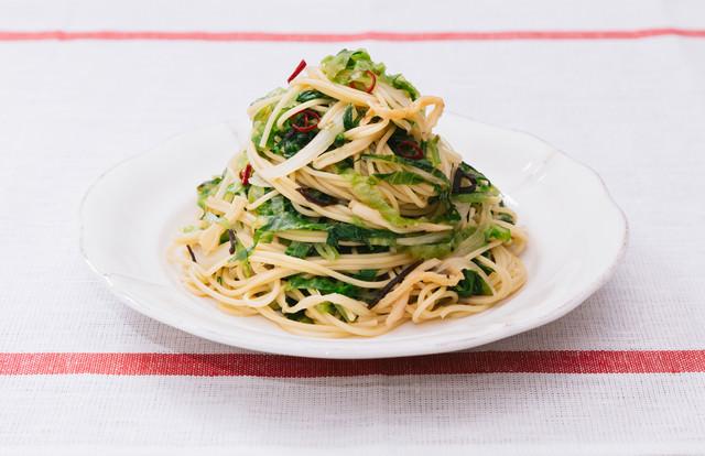 ダイエット中に積極的に食べたい美味しいパスタ「大盛りダイエットペペロンチーノ」の写真