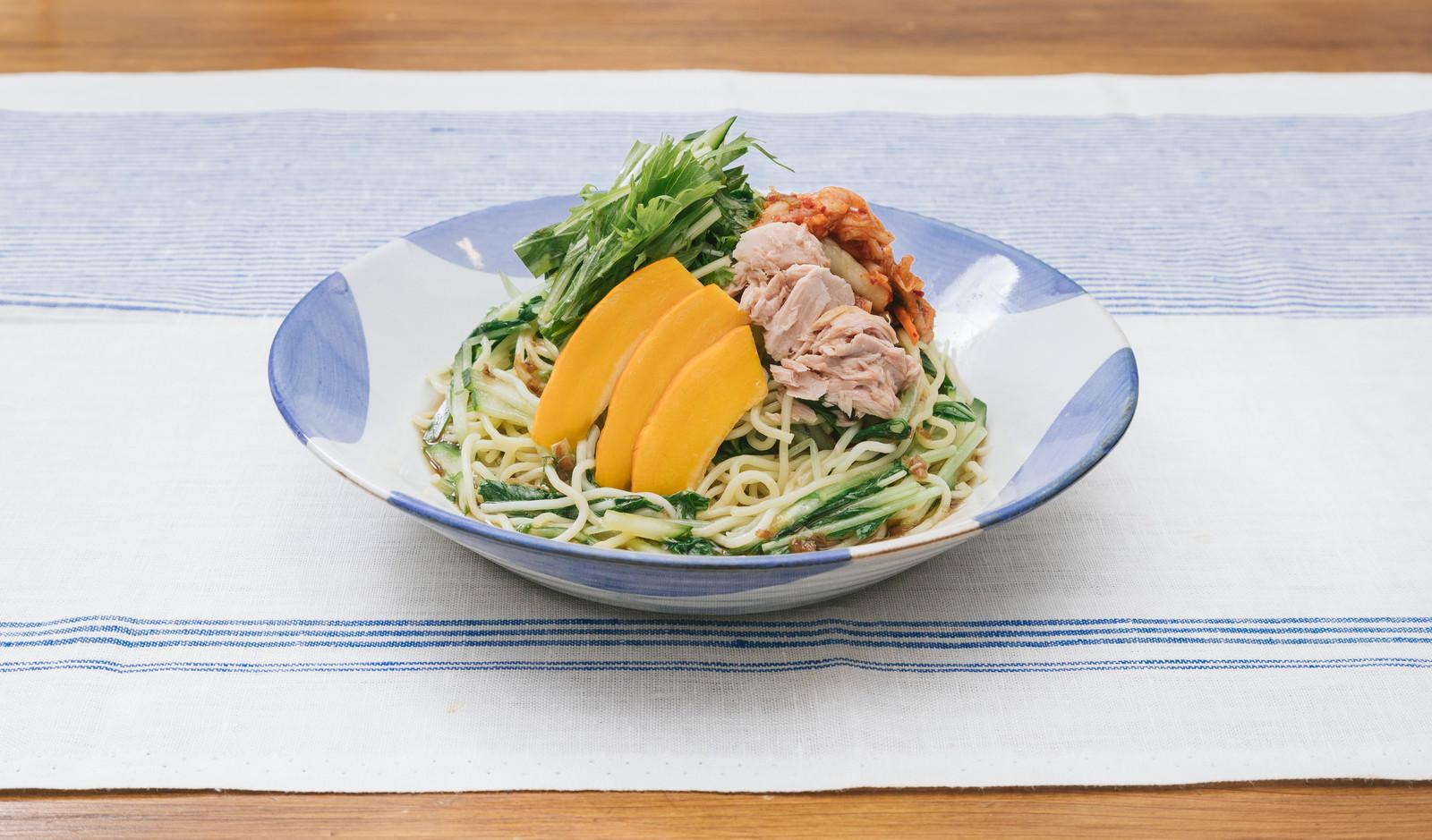 「中華麺も安心して食べられて低糖質「大盛りダイエット冷やし中華」」の写真