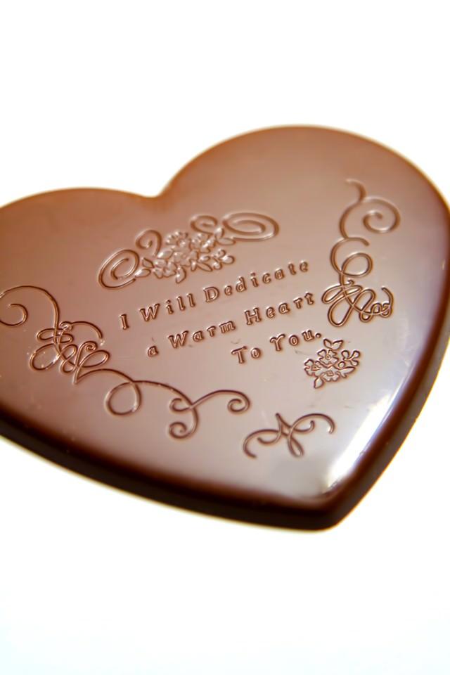 バレンタイン用ハートのチョコレートの写真