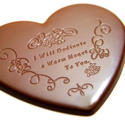 「バレンタイン用ハートのチョコレート」の写真素材