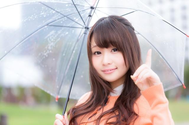 梅雨前線により天気が崩れ引き続き傘が必要ですの写真