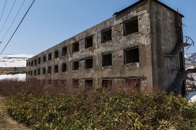 松尾鉱山宿舎跡の写真