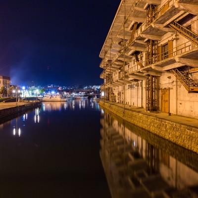 「小樽西運河」の写真素材
