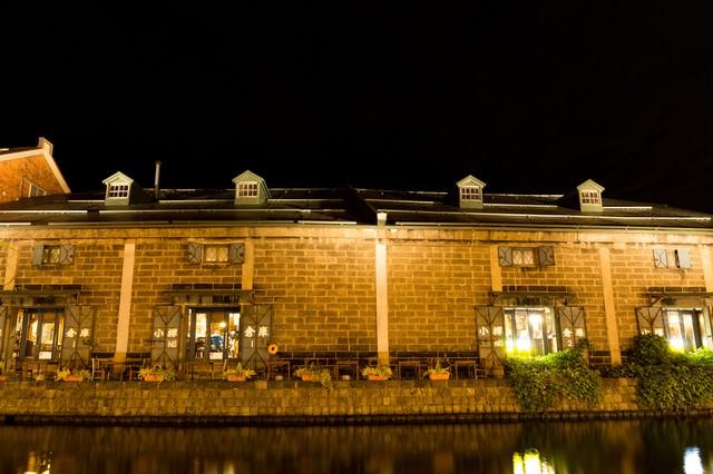小樽運河の倉庫の写真