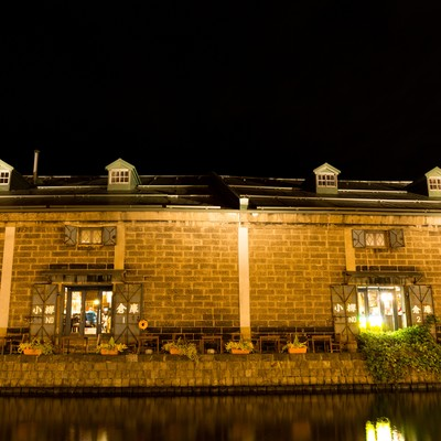 「小樽運河の倉庫」の写真素材