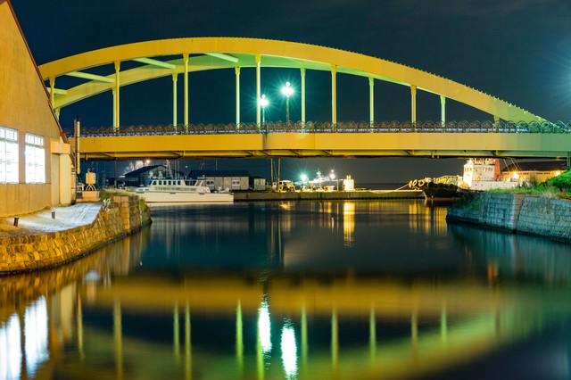小樽運河の夜の写真