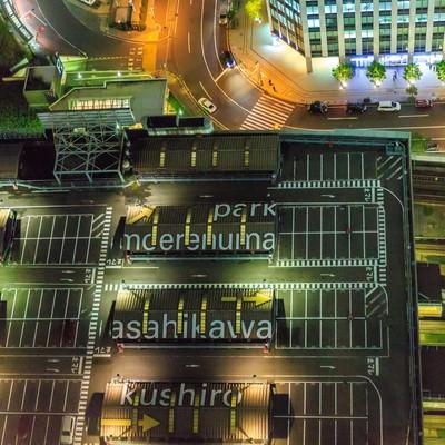 「札幌駅を見下ろす」の写真素材