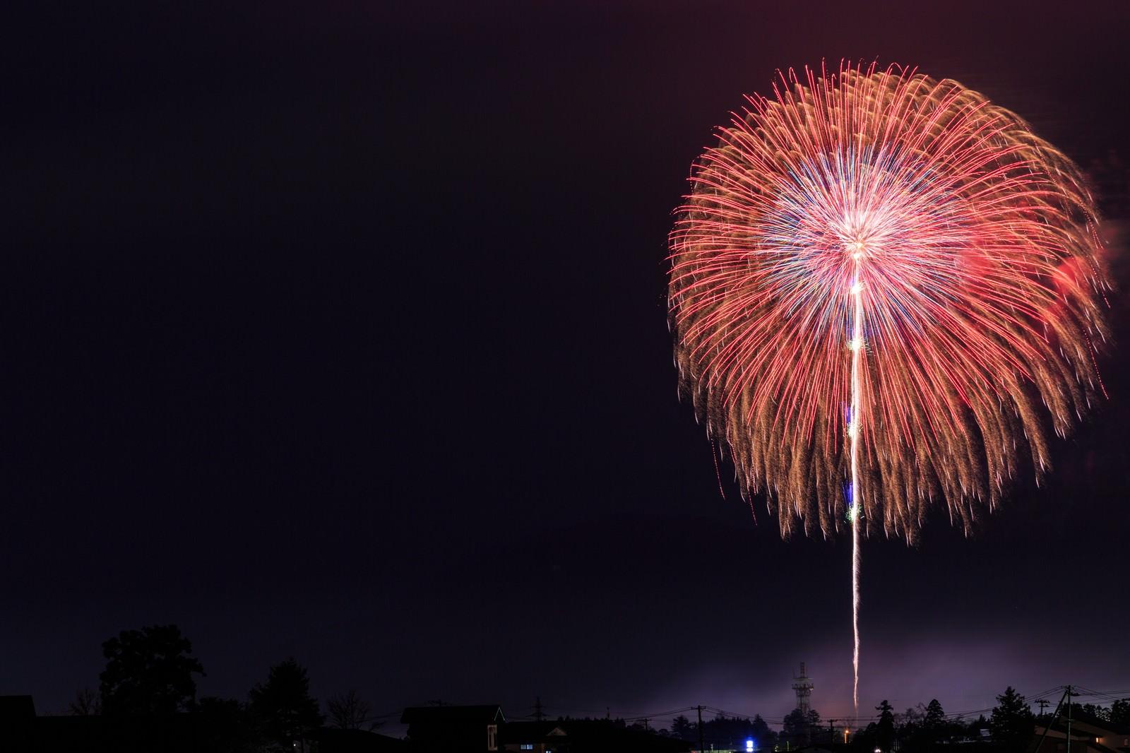 「遠くの打ち上げ花火遠くの打ち上げ花火」のフリー写真素材を拡大