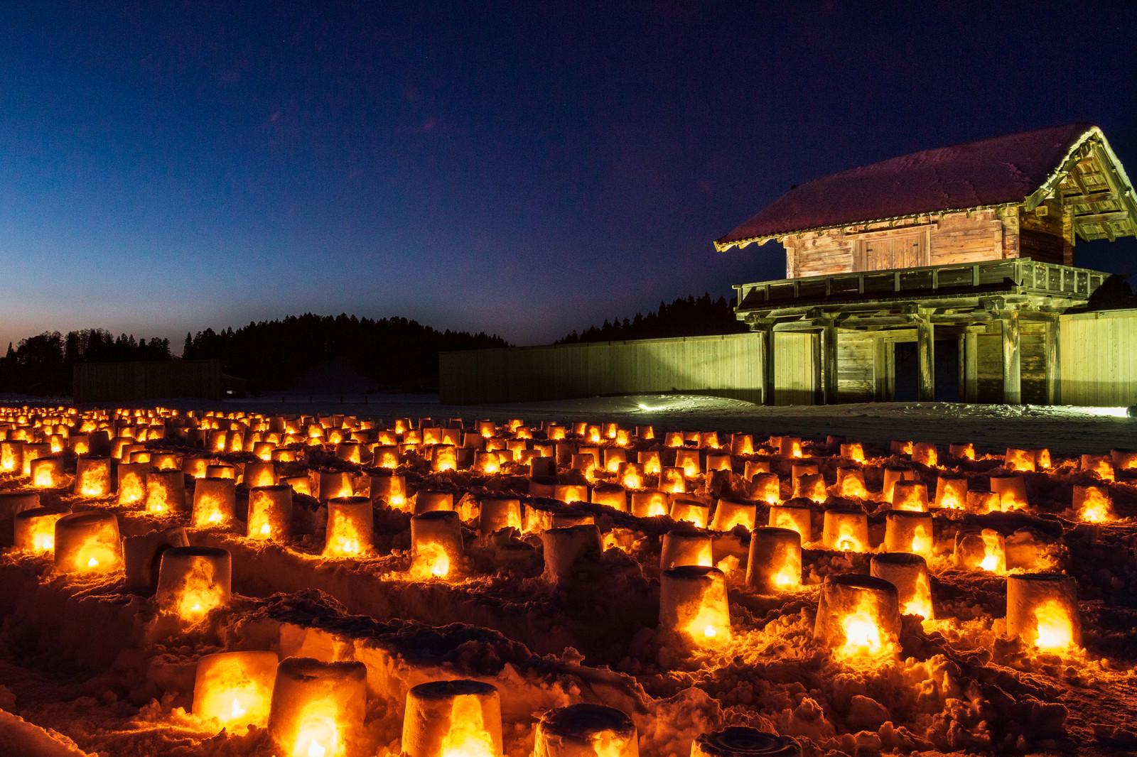 「払田柵の冬祭り(秋田県大仙市)」の写真