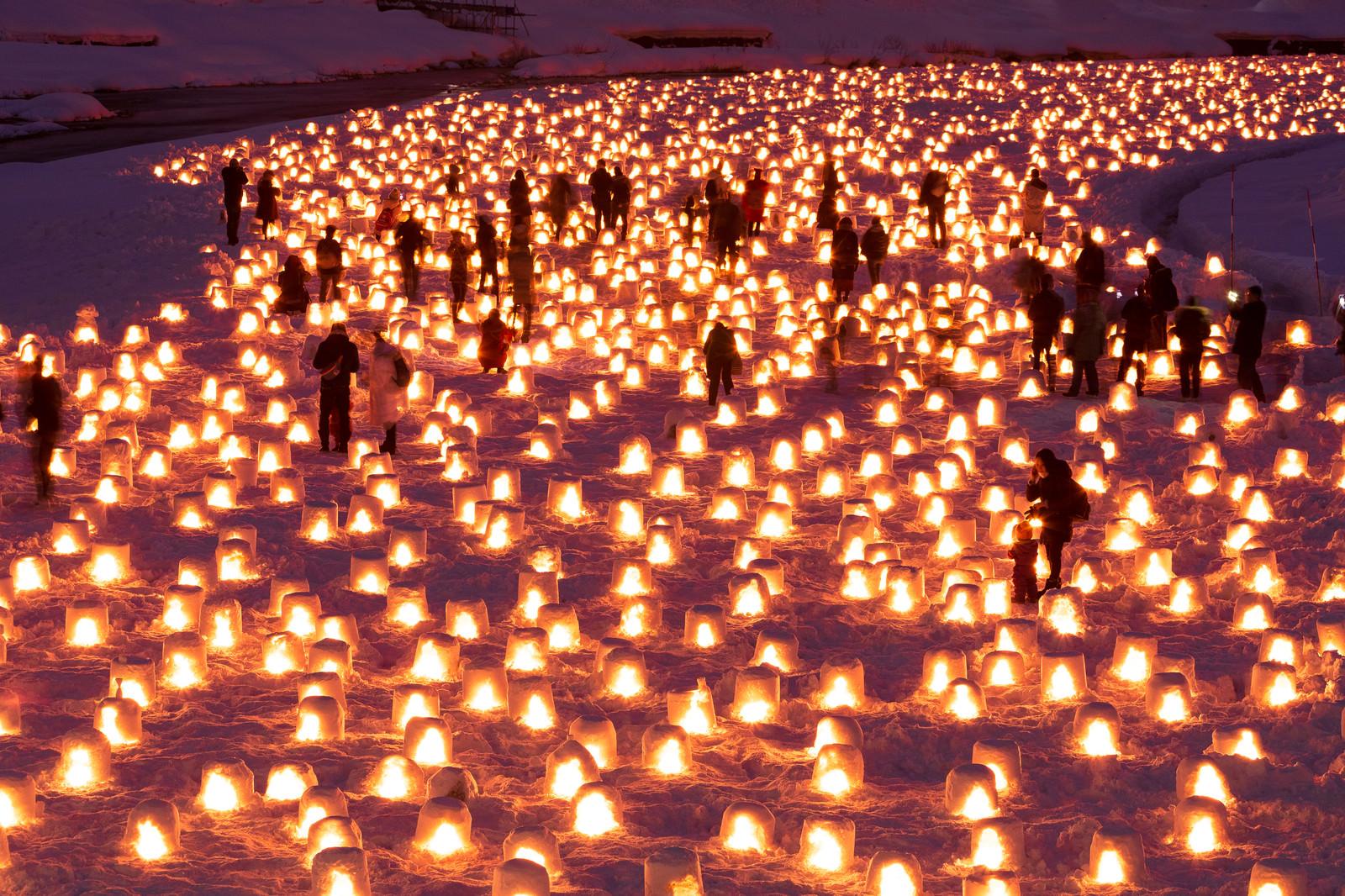 「横手かまくら祭り(秋田県横手市)」の写真