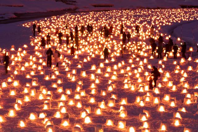 横手かまくら祭り(秋田県横手市)の写真