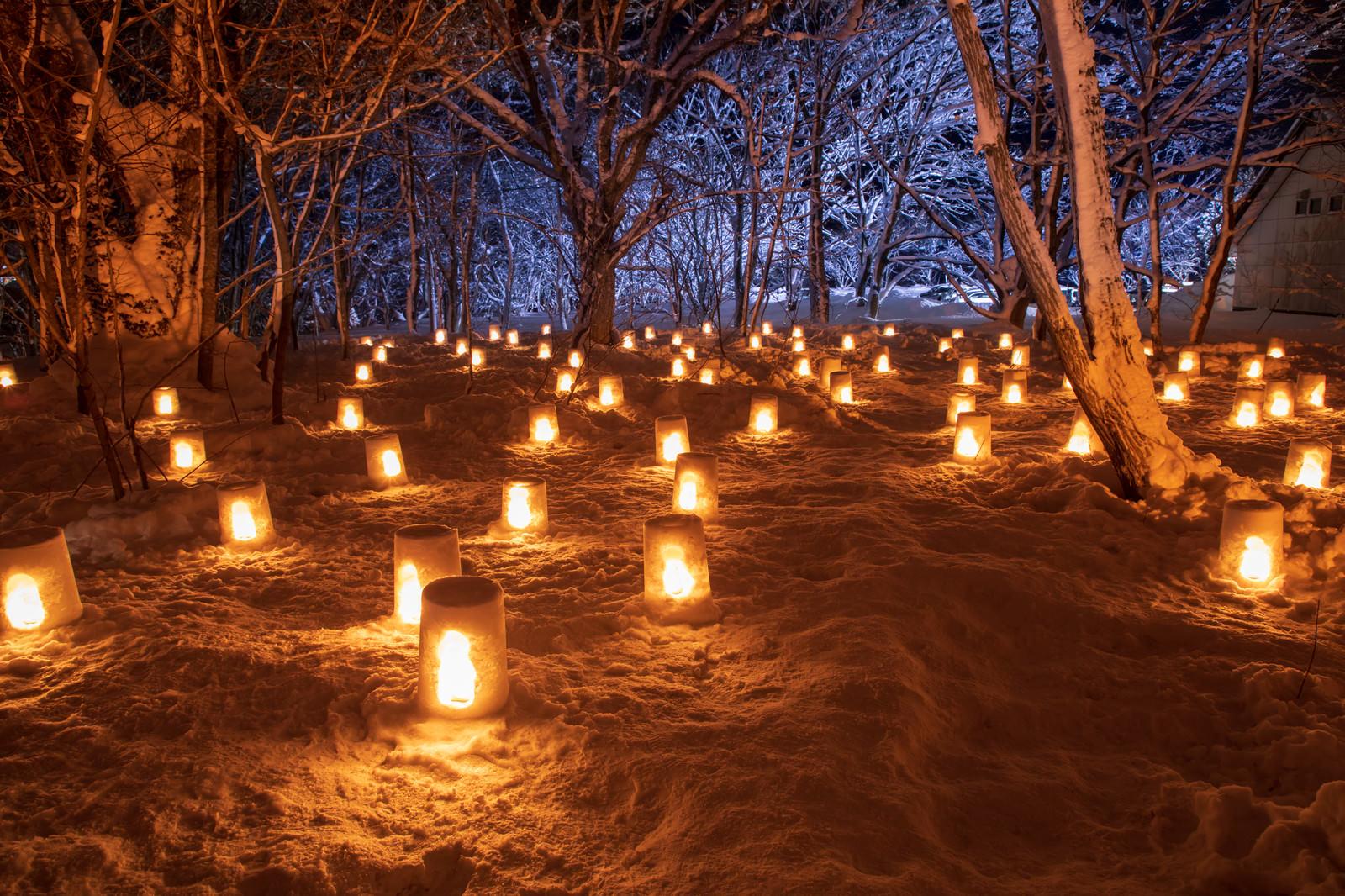 「西和賀雪あかり祭り(岩手県和賀郡)」の写真