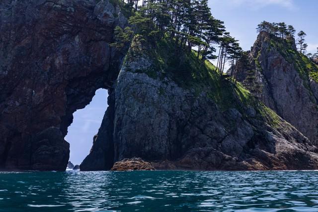 北山崎にある奇岩怪石の写真