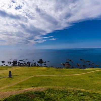 入道崎と日本海の写真