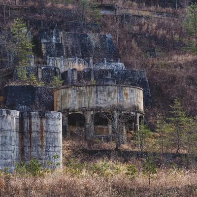 「土畑鉱山跡」の写真素材