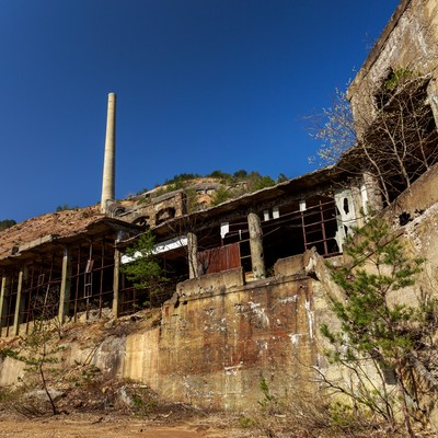 秋田県尾去沢鉱山跡の写真