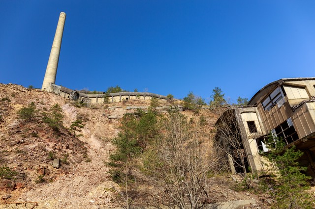 尾去沢鉱山跡の写真