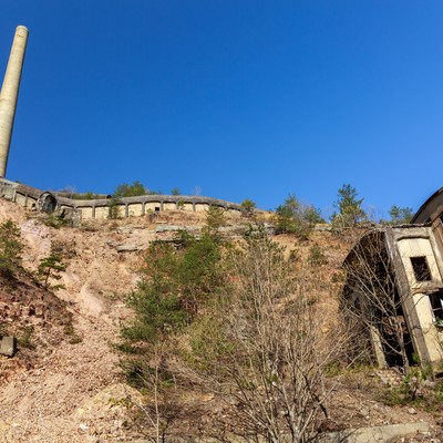 「尾去沢鉱山跡」の写真素材