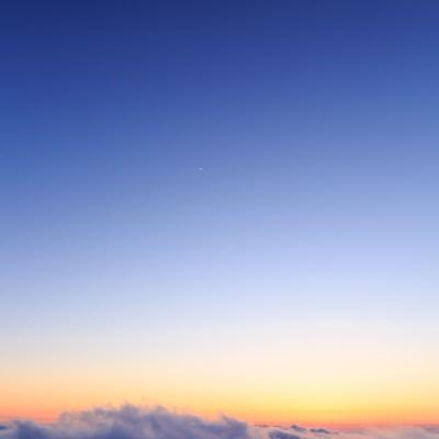 冬の蔵王夕暮れの写真