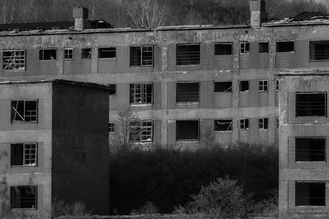 「産業遺産、松尾鉱山跡」のフリー写真素材