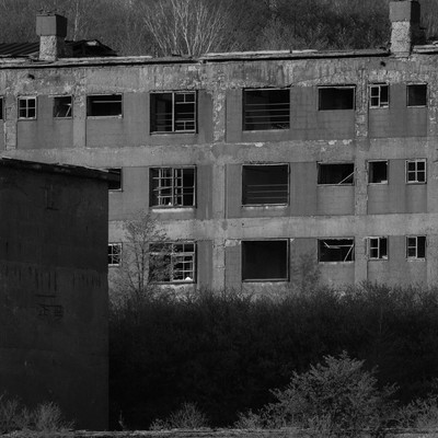 「産業遺産、松尾鉱山跡」の写真素材