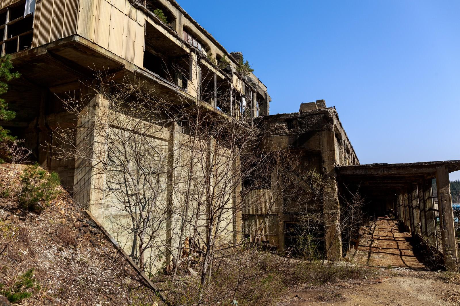 「不気味な尾去沢鉱山跡」の写真