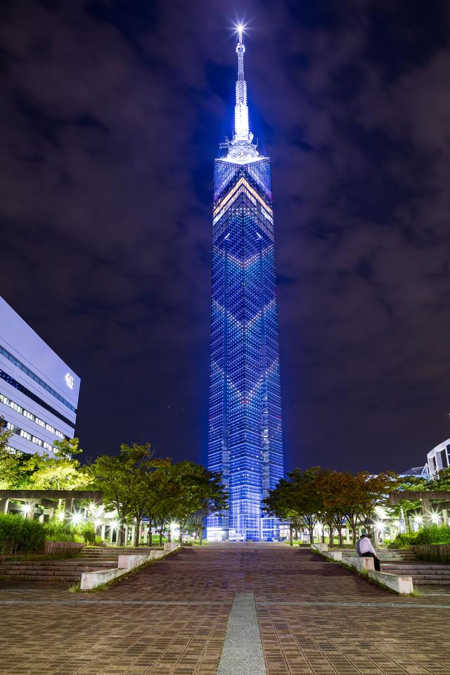 福岡県にあるランドマークタワー(福岡タワー)の写真素材