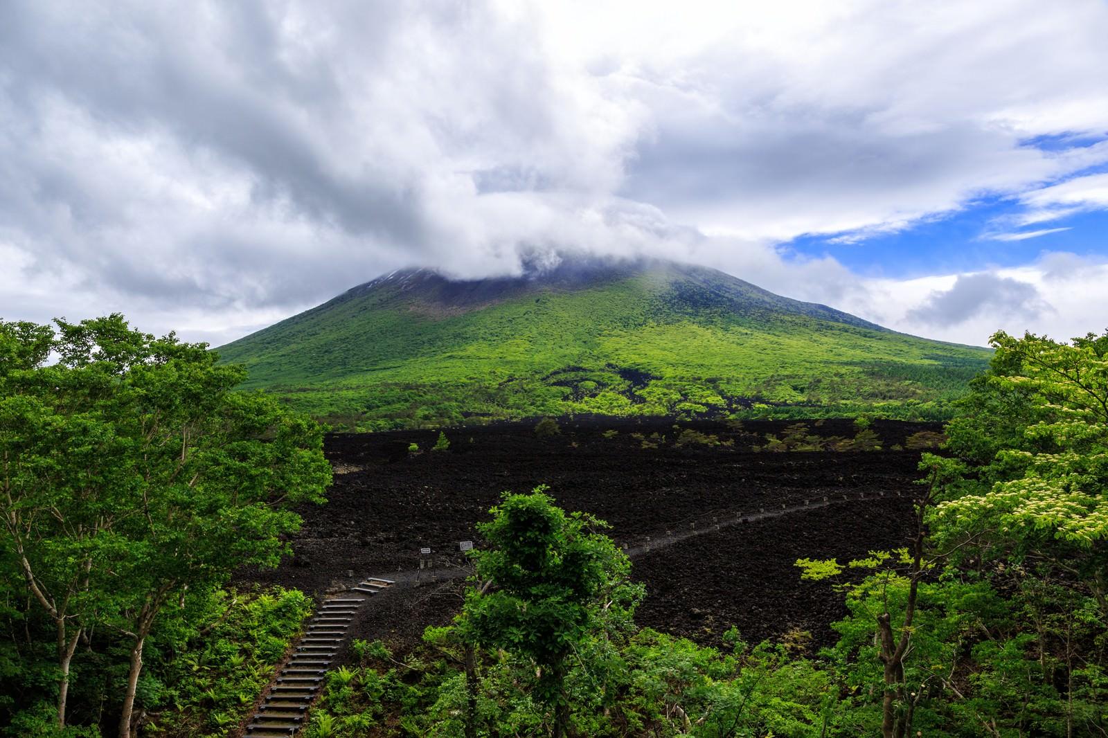 「岩手山焼走り溶岩流」の写真