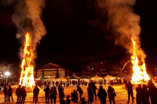天筆焼き(太田の火まつり)の写真