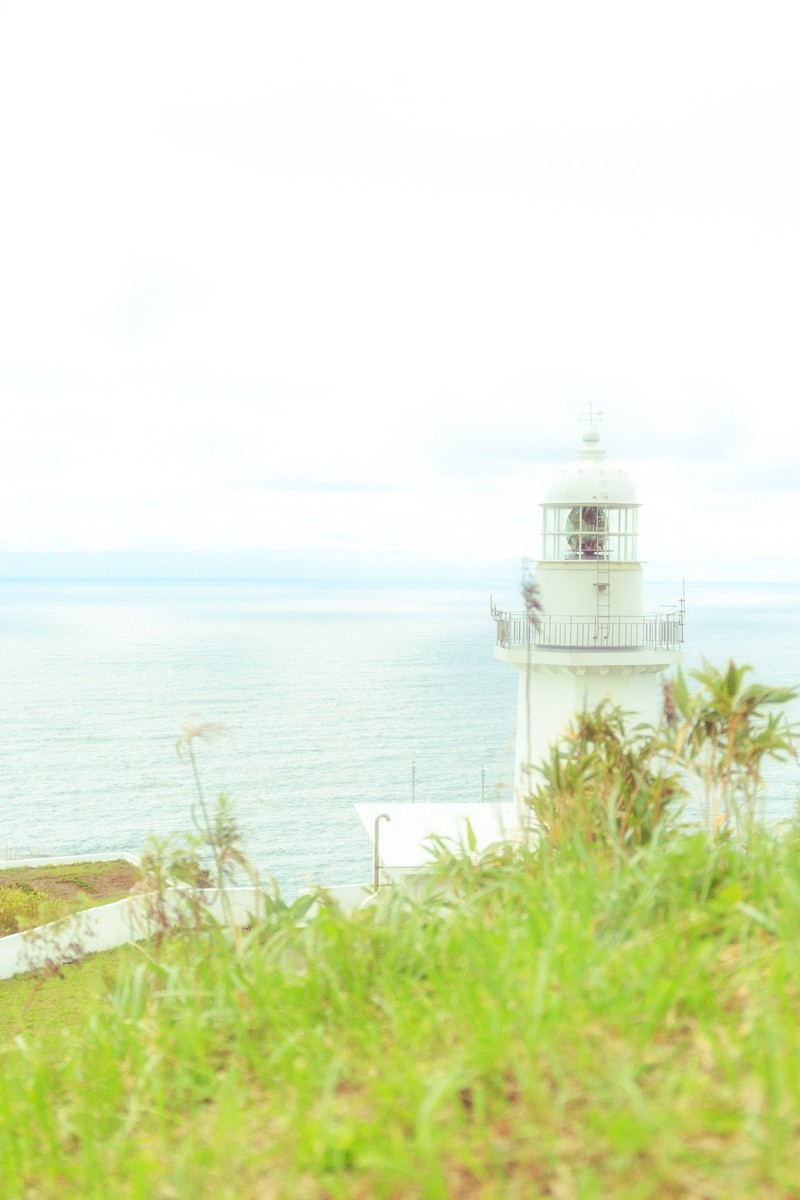 「淡色灯台前」の写真